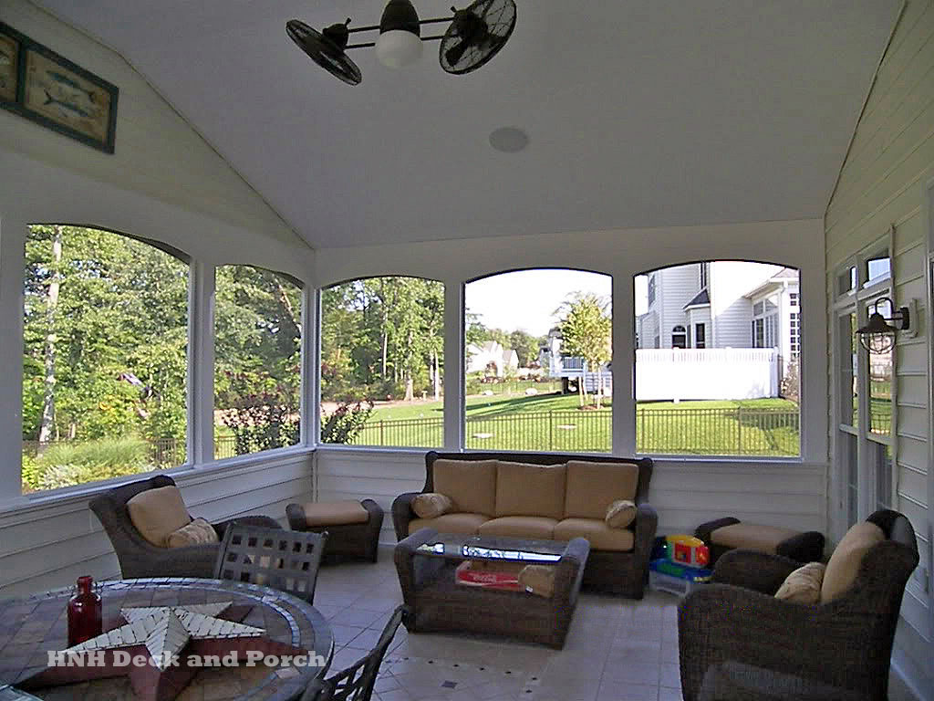 Porches screened room gallery hnh deck and porch llc for Screen walls for deck