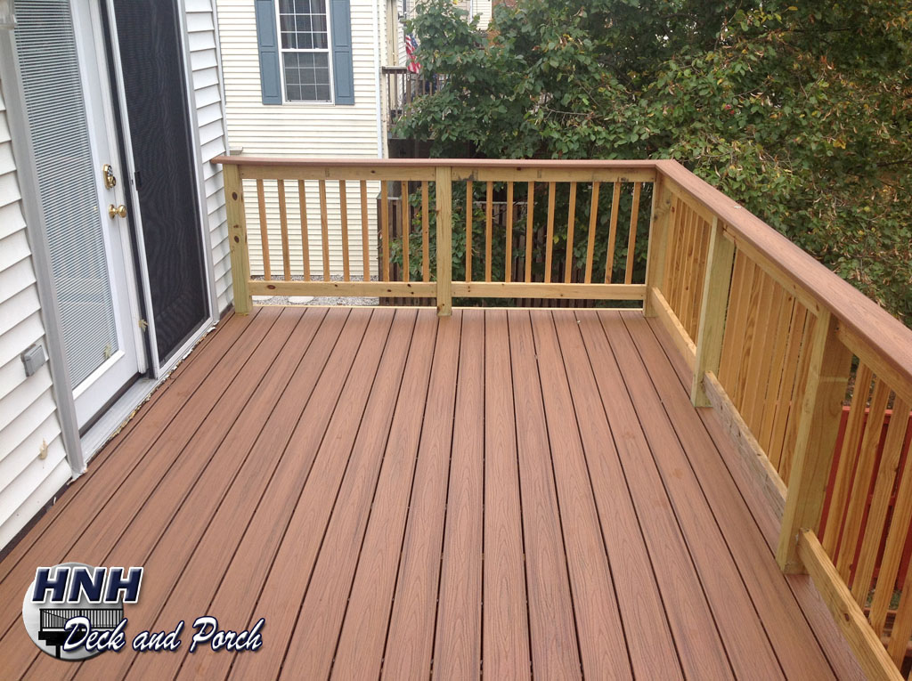 Deck railing gallery hnh deck and porch llc 443 324 5217 for Composite deck railing