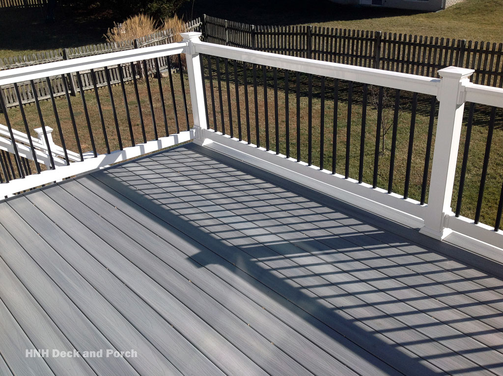 Deck gallery hnh deck and porch llc 443 324 5217 for Composite deck railing